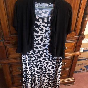 Polka dot dress with detachable jacket